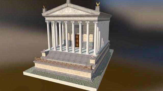 Tempio castore e polluce 3D Model