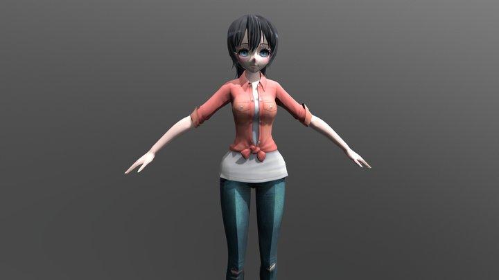 Brenda Casual - FBX Rigged Character 3D Model