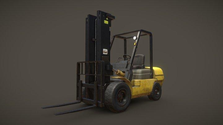 Forklift Truck - Low Poly 3D Model 3D Model