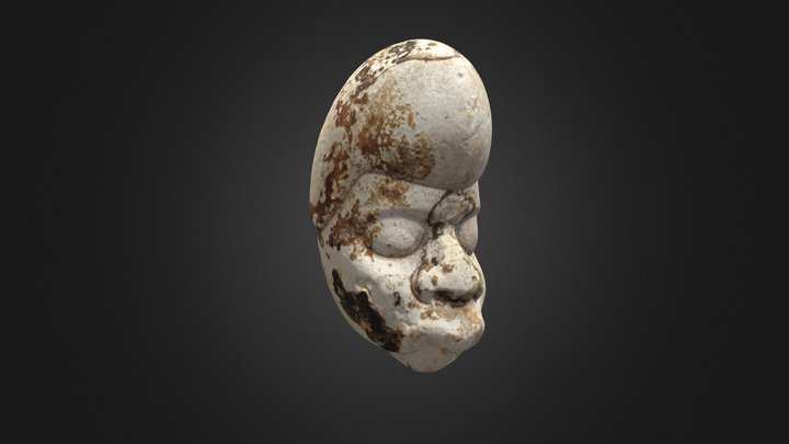 Hacha in the form of head of sacrificial victim 3D Model