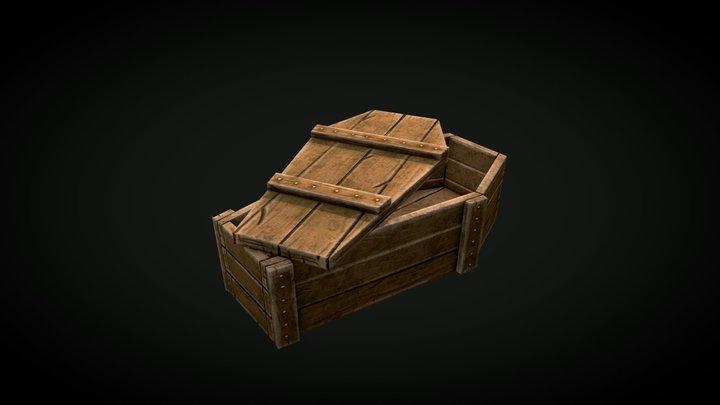 Stylized Coffin 3D Model
