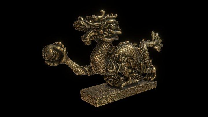 Brass Dragon 3D Model