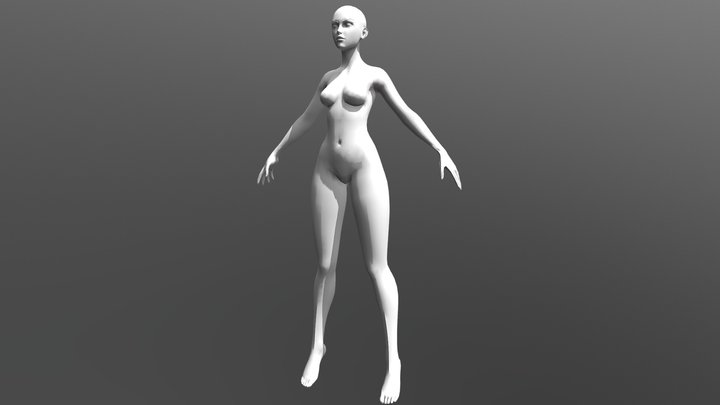 Stylized Heroic Female Basemesh 3D Model