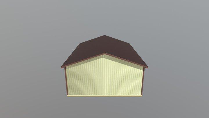 Pole Barn - 30 x 40 x 12 x 4:12 - $12113 3D Model