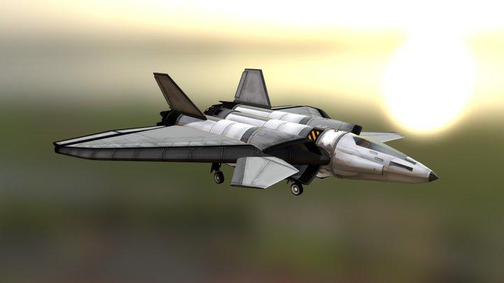 SHA SSTO - Hawkling Series - FreeFlea 3D Model