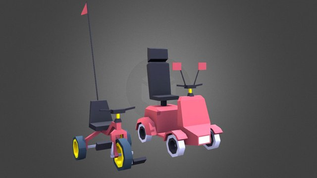 Vehicles from Poly Peloton 3D Model