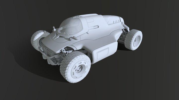 Racing Car wip 03 3D Model