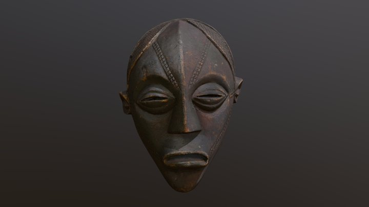 Ceremonial East African mask 3D Model