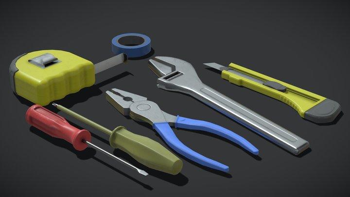 Tools Pack. Free 3D Model