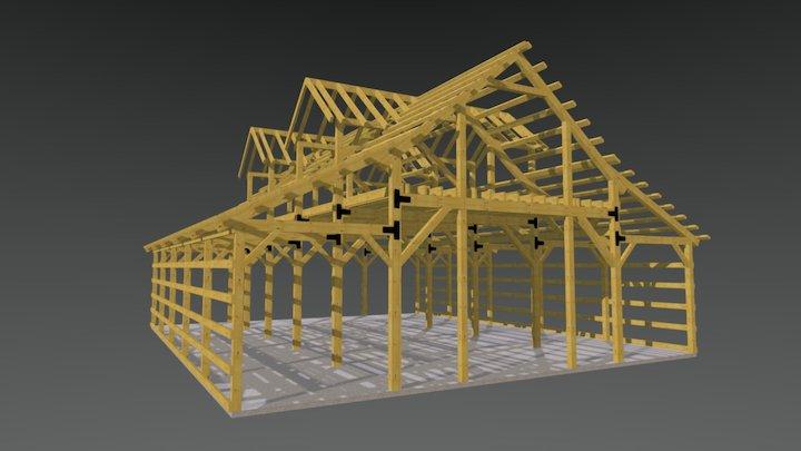 42x50 Teton Barn Frame 3D Model
