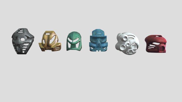 All Toa Mata Masks 3D Model
