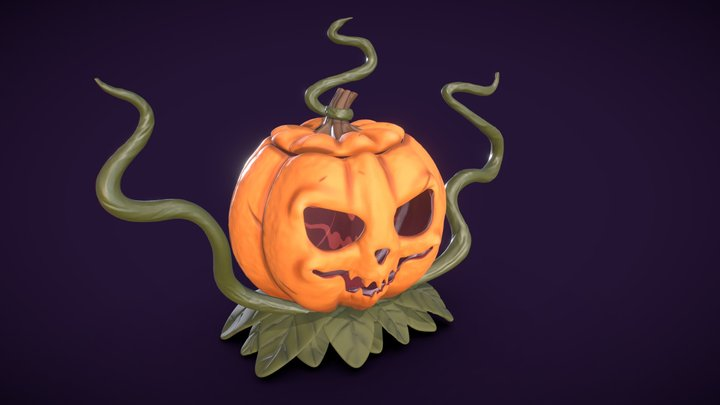 DS - Witches Evil Sidekick Pumpkin 3D Model
