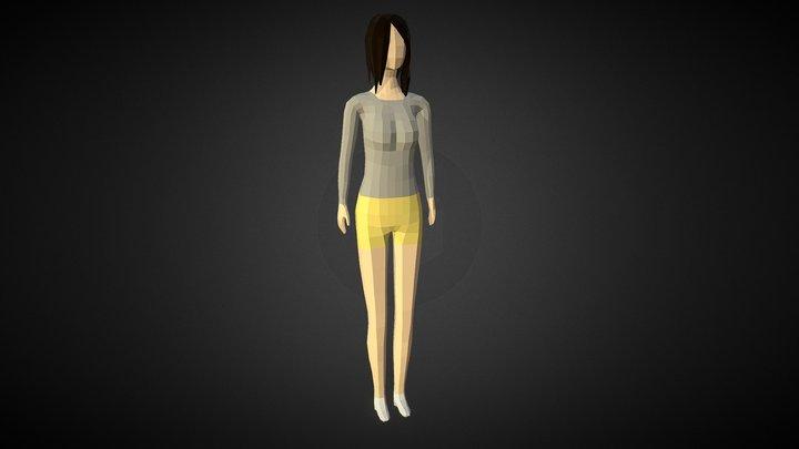 Low-poly Woman 3D Model