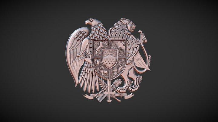 Coat Of Arms Of Armenia 3D Model