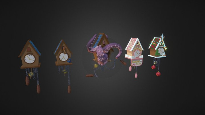 Cuckoo_Clock_H6 3D Model
