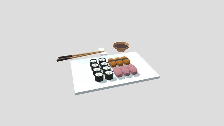 Sushi portion 3D Model