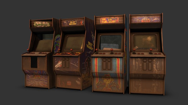 Abandoned Arcade Cabinets 3D Model