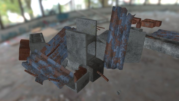 Debris, Scattered and Individual 3D Model