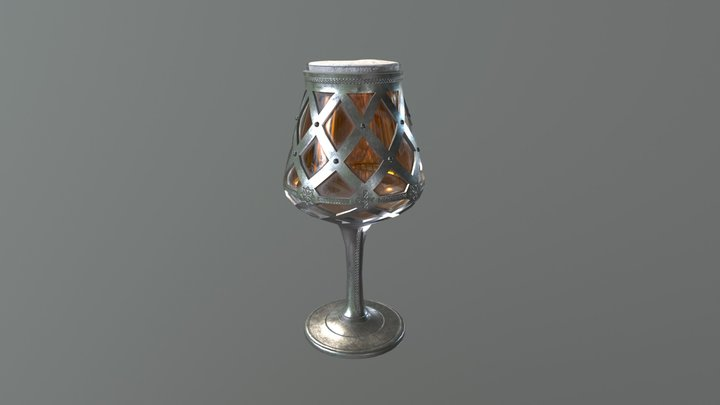 King Bleso's Silver Goblet of Everlasting Hop 3D Model