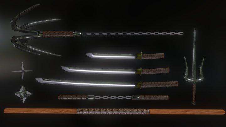 Weapon Set (Joseph St.Arnault) 3D Model