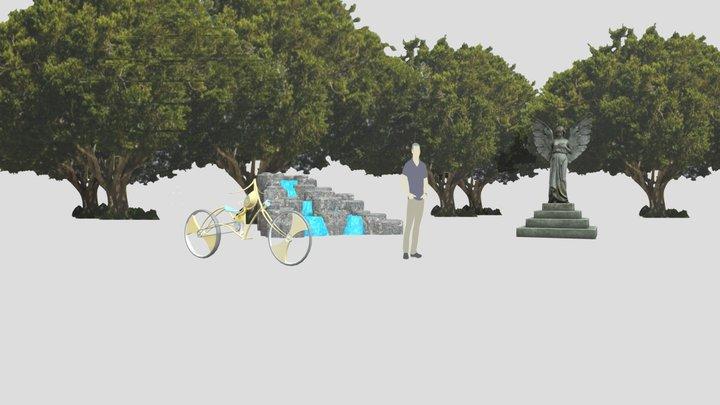 Statueman Grouped 3D Model