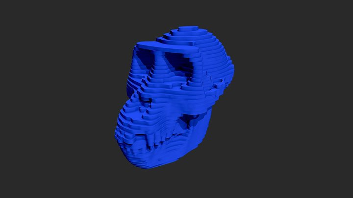 Stacked Gorilla Skull 3D Model