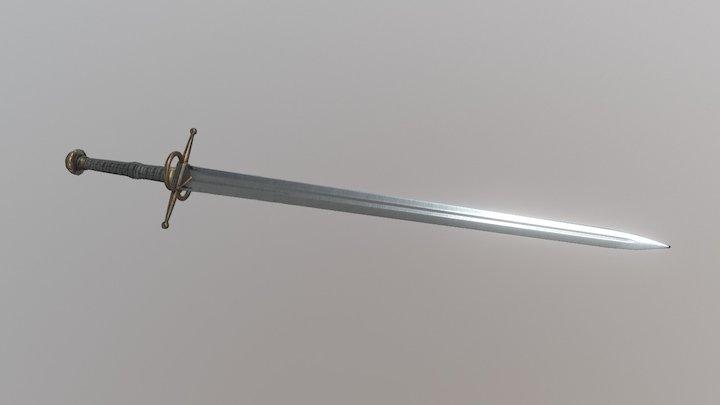 Steel Sword 3D Model