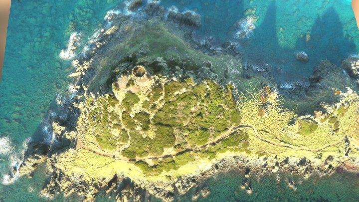 Pointe de la Parata, Ajaccio, Corse 3D Model