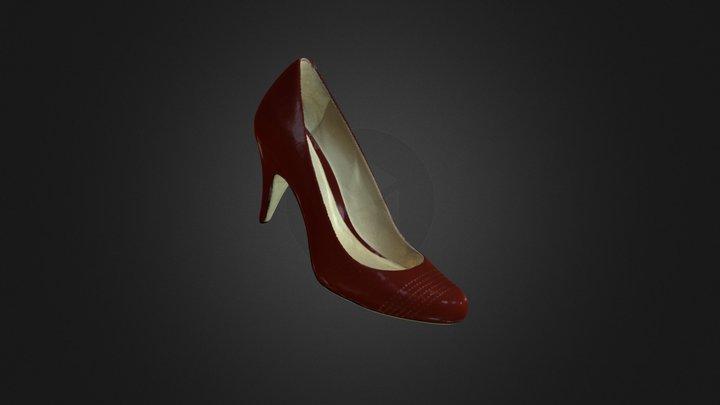 Red High Heel 3D Model
