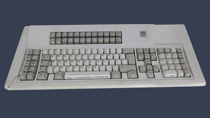 IBM Model F 122 Vintage Keyboard 3D Model
