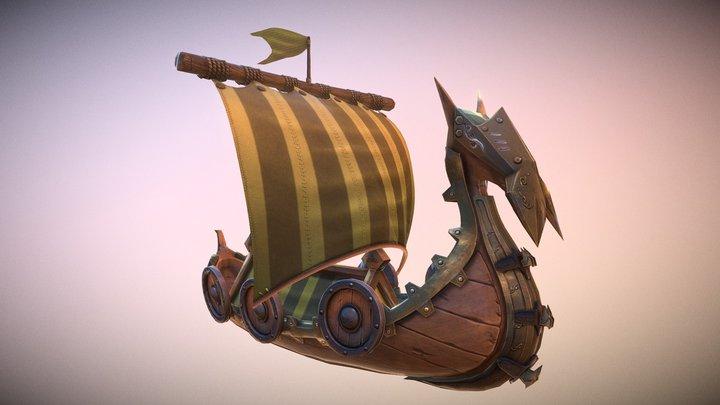 Viking Ship Armored 3D Model