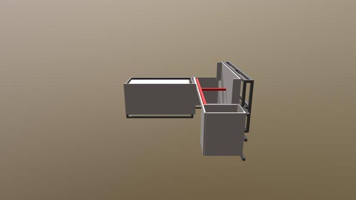 Mueble Conserje Estructura 3D Model
