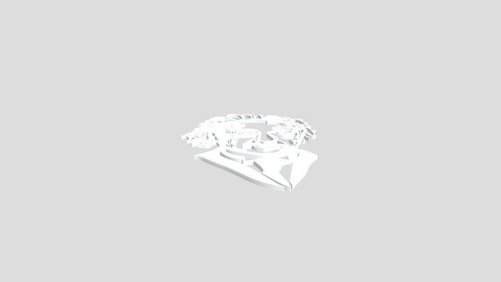 ALBERT EINSTEIN WALL - 2D ART -3D PRINT MODEL 3D Model
