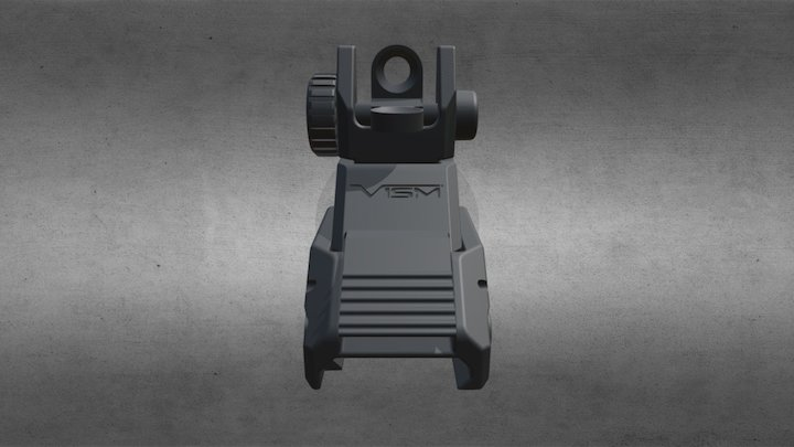 Rear Flip Sight 3D Model