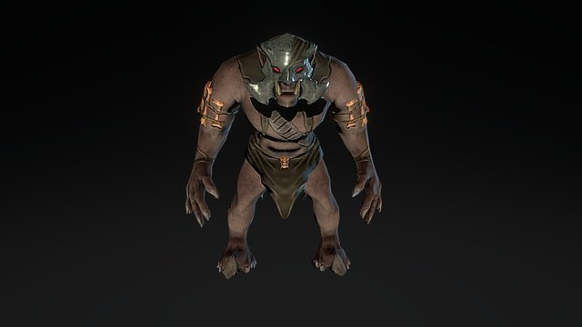 """""""Stylized"""" Orc Game Character 3D Model"""
