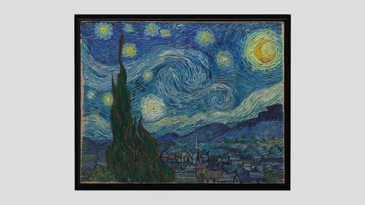 The Starry Night 3D Model