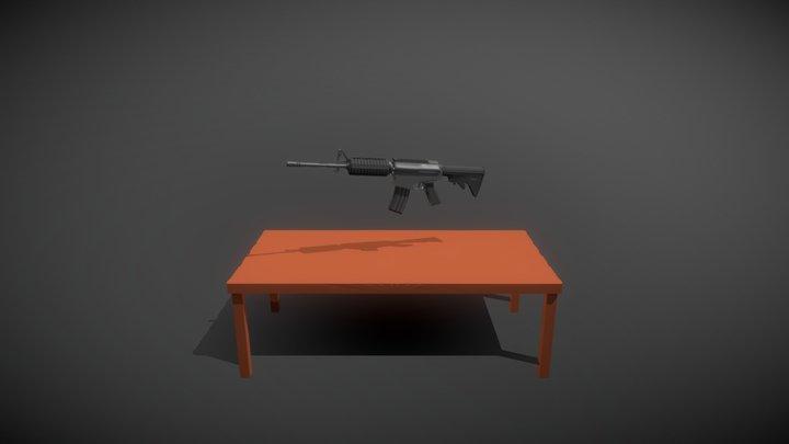 Low Poly M4A1 3D Model