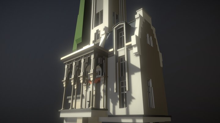 Flying Tower | Draft, Middle details 3D Model