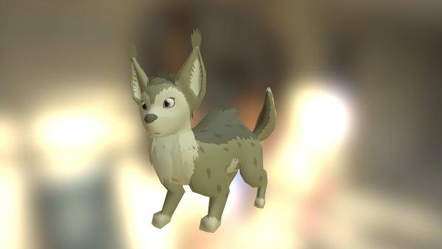 Fox Ferret Curious 3D Model