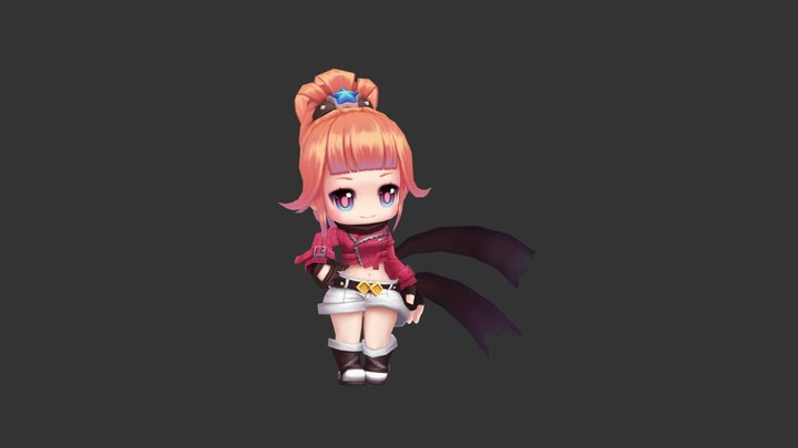 Eve - Maple story 2 (imitate) 3D Model