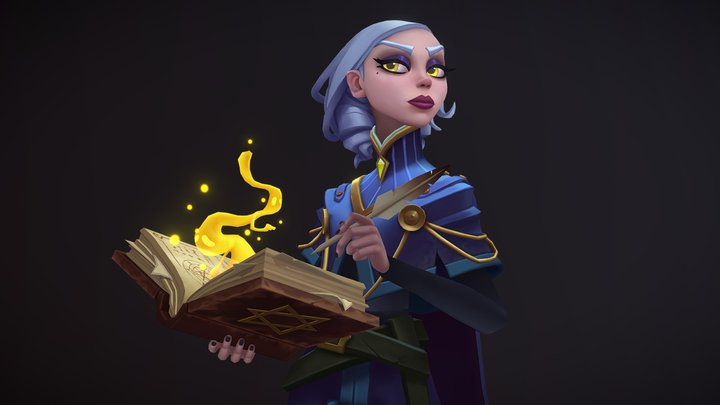 Spell Researcher - Handpainted lowpoly 3D Model