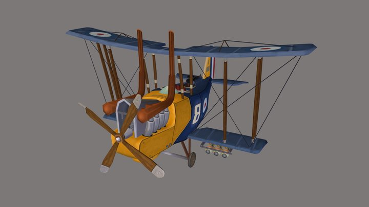 Flying Circus - R.E. 8 Harry Tate (stylized) 3D Model