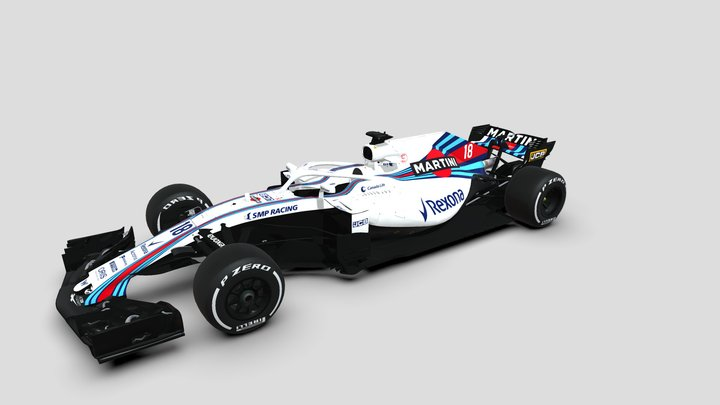 Williams Martini Racing FW41 3D Model