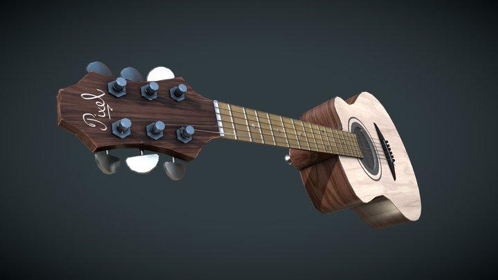 Low Poly Guitar. 3D Model