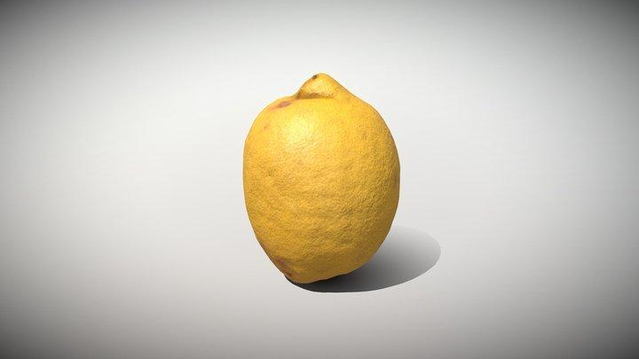 Fruit Lemon - Photoscanned PBR 3D Model