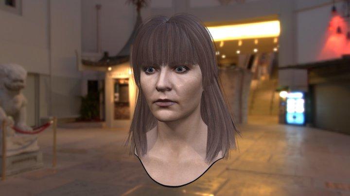 3d Model Woman Head V3 Female 3D Model