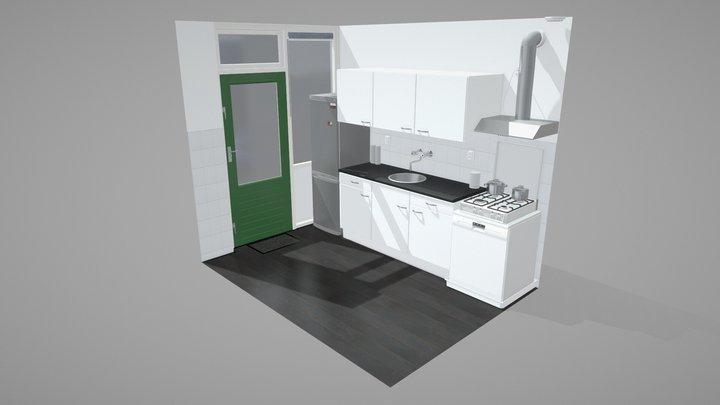 Kitchen Setting 3D Model