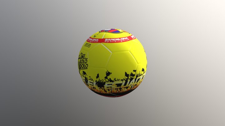 BALON BARCELONA HINCHAS 3D Model