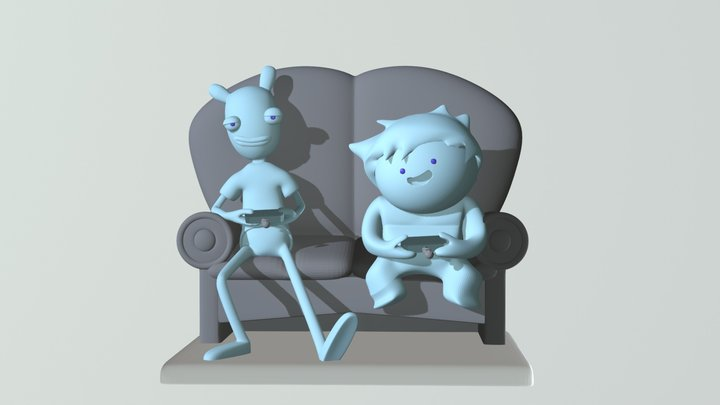 oney plays couch 3D Model