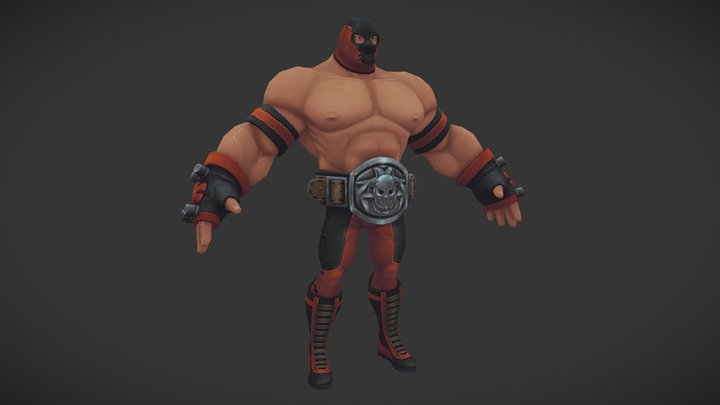 Wrestler Hecto_Rage Squad Character 3D Model